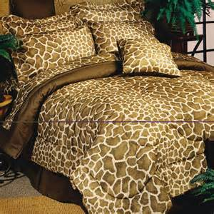 8pc brown tan giraffe print comforter sheet set queen ebay