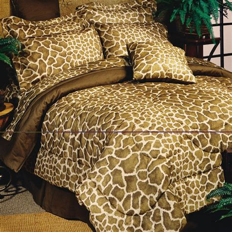 Giraffe Bedding Sets 8pc Brown Giraffe Print Comforter Sheet Set Ebay