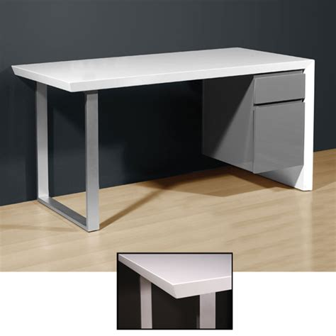 white gloss office desk media office desk in high gloss white grey 4027 158