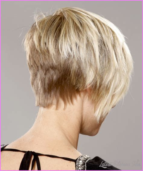 short hair volume on top longer in frint long pixie haircut back view latestfashiontips com