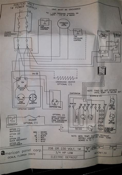 commercial walk in freezer wiring diagram new wiring