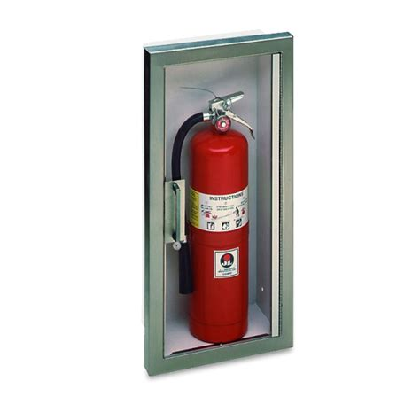 semi recessed fire extinguisher cabinet stainless steel jl panorama 1036c70 semi recessed stainless steel 10 lbs