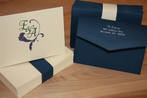 Handcrafted Stationery - custom s note card with flourish platypus papers