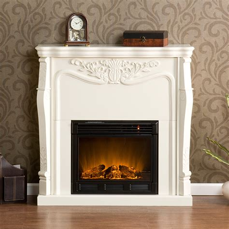 sei fa5655e raphael ivory white electric fireplace new ebay