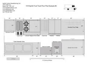 Food Truck Floor Plan by Food Truck Floor Plans Schematics And Layouts For Apollo