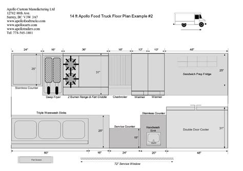 food truck floor plans floor plan gallery apollo manufacturing custom food truck builder