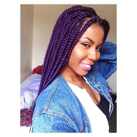 dark purple braiding hair purple box braids tumblr braids protective styles