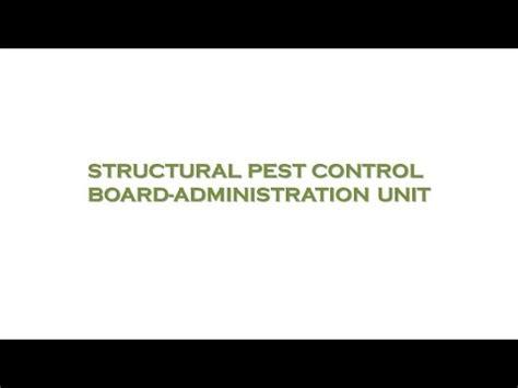 Pest Structural Pest Control Board