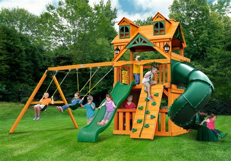 metal backyard playsets exterior palace toy with wooden materials and green fiber