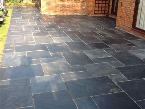 Slate Pavers For Patio Slate Tiles For A Patio Photo 6 Gardens Pinterest Slate Patio Slate And Patios