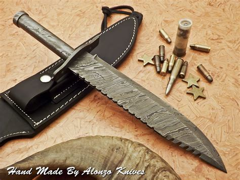 Handmade American Knives - handmade by alonzo knives usa custom rambo blood