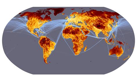 global cities world map forest observations