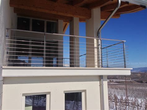 ringhiera per terrazzo ringhiera balcone esterno acciaio inox val di non il