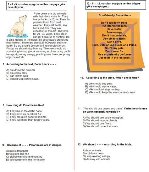testo animals 7 s箟n箟f 箘ngilizce animals 2 konu testi