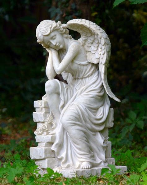Angelic Gardens by Large Garden Statues Quotes