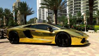 A Gold Lamborghini Gold Plated Lamborghini Aventador Lp700 4 Better