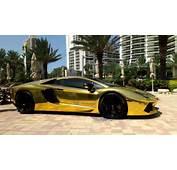 World No1 Luxury Car Lamborghini Aventador Gold Images  SportsCars20