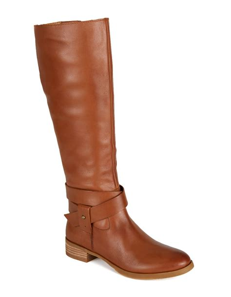 nine west leather boots nine west vecelia classic leather boots in brown lyst