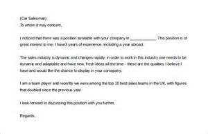9 sales letter templates free sle exle format