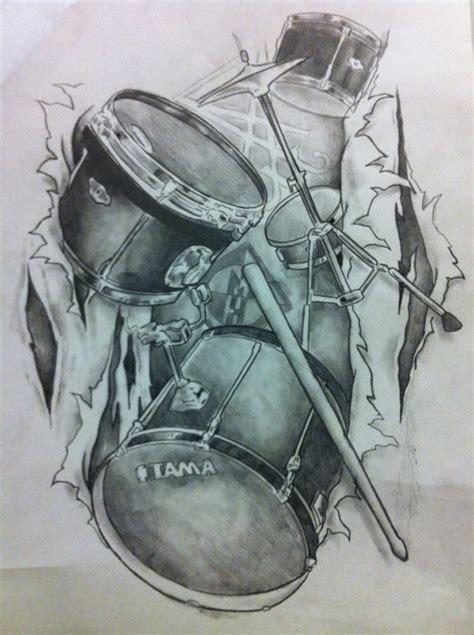 drum tattoo on