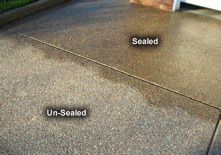 wet  acrylic sealer  aggregate concrete exterior