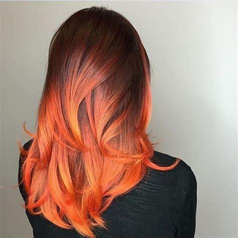what to dye your hair when its black firey phoenix ombre płomienna koloryzacja inspirowana
