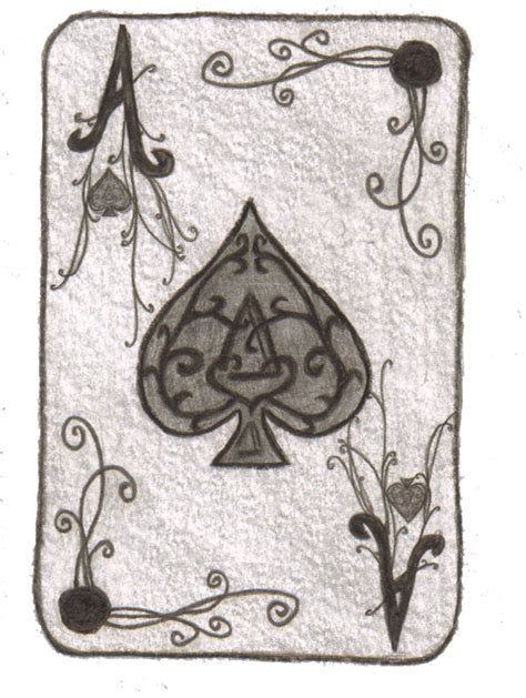 card draw ace of spades card by minaalthea on deviantart