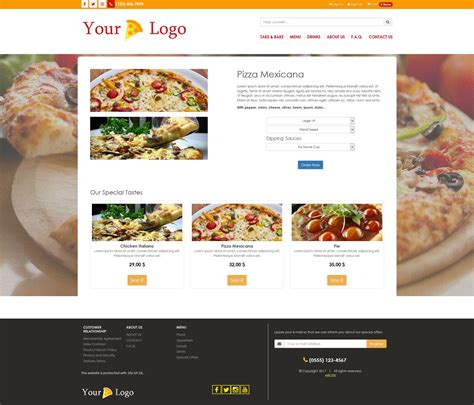 Simple Html5 Template by Simple Html5 E Commerce Template For Food Html