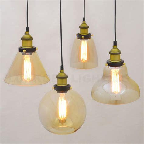 loft antique clear glass bell pendant lighting retro vintage pendant lights clear glass lshade loft