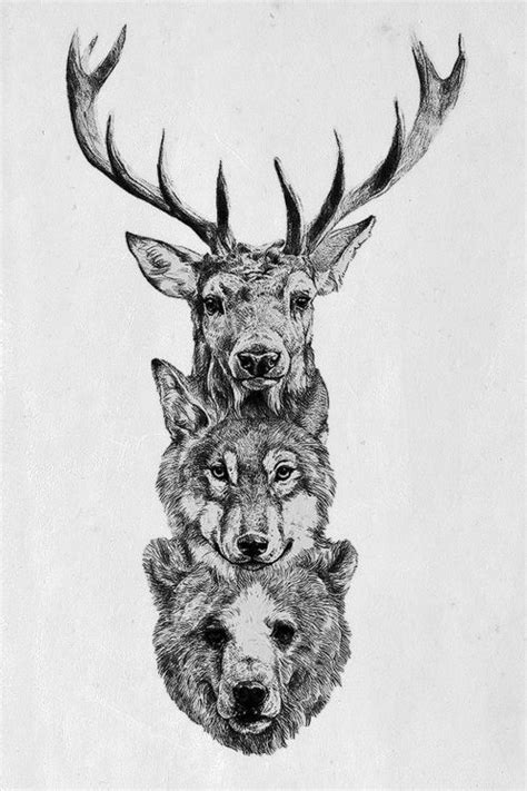 tattoo animal totem this would make an awesome totem pole tattoo body art