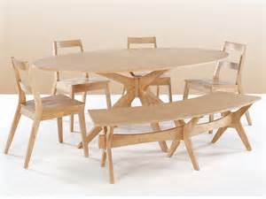 White Dining Table And Bench Set Lpd Malmo 190cm White Oak Dining Table And 4 Chairs Set With Bench