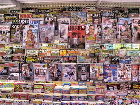 david steinlicht magazine rack in a canadian grocery store