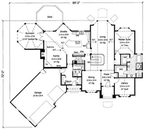 sunroom floor plans octagonal sunroom house plan hunters