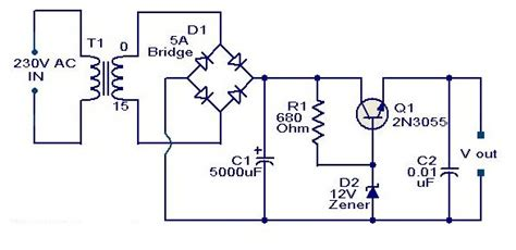 Pcb Regulator Simetris 12 V Tr Zener B 10ps Belt 2n3055 based on 12 volt adaptor audio lifier schematic circuits picture