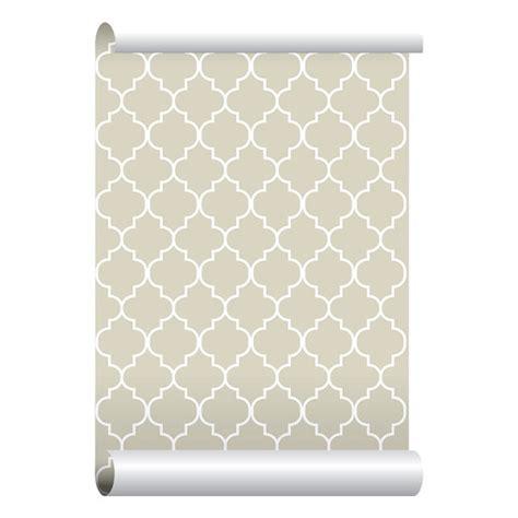 self adhesive removable wallpaper self adhesive removable wallpaper moroccan print beige