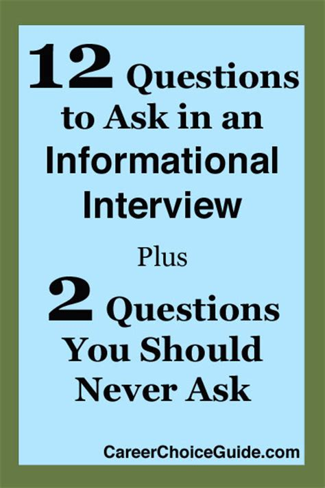 actually useful questions to ask in informational interviews talart ru