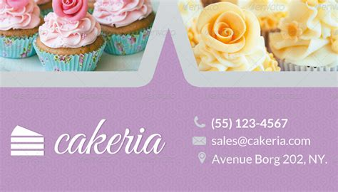 cake business cards templates free cake cupcake business card by ingridk graphicriver