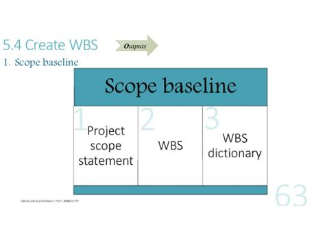 scope baseline template pmp pmbok 5th ch 5 scope management