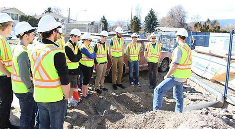 mgc tours civil engineering students through construction site