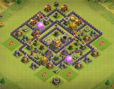 layout of coc th7 16 best coc town hall th7 trophy bases 2016 3 air defenses