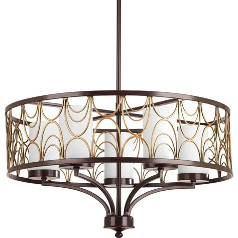 Antique Bronze Chandeliers Progress Lighting Cirrine Collection 5 Light Antique Bronze Chandelier With Shade P4700 20 The