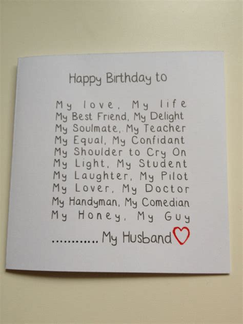 Handmade Cards For Husband - handmade husband birthday card craft ideas