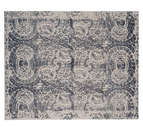 Pottery Barn Wool Rugs Bosworth Printed Wool Rug Gray Wool Gray And Grey
