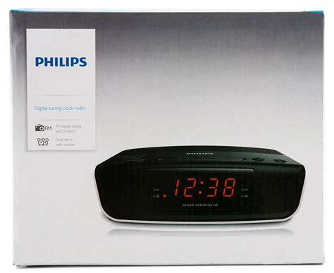 Original Clock Radio Philips Aj3123 12 philips digital tuning 24hr clock radio black white great daily deals at australia s