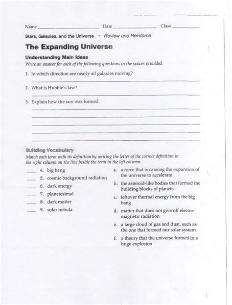 galaxies worksheets 8th grade page 2 pics about space