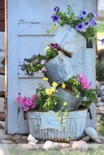 Primitive Planters by Primitive Tipsy Pot Planters Diy Rustic Garden Decor 171 The Pink Hammer Primitive