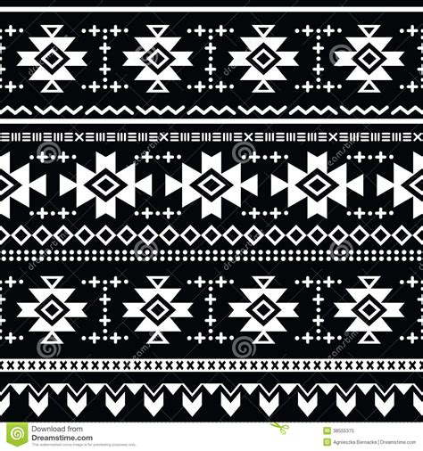 tribal pattern black tribal aztec seamless pattern print royalty free stock