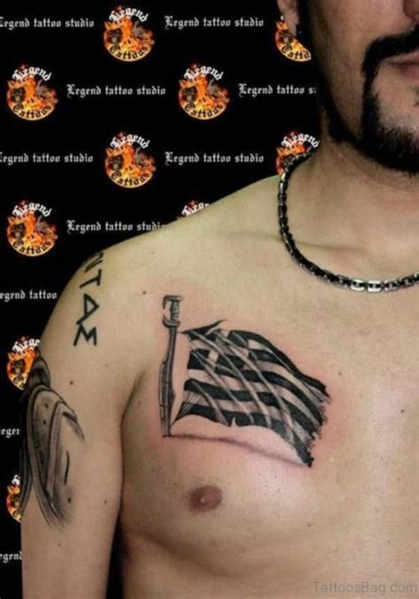 greek flag tattoo designs 57 classic flag tattoos on chest