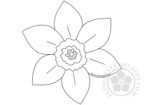 Daffodil Templates by Printed Pattern Daffodil Flowers Templates