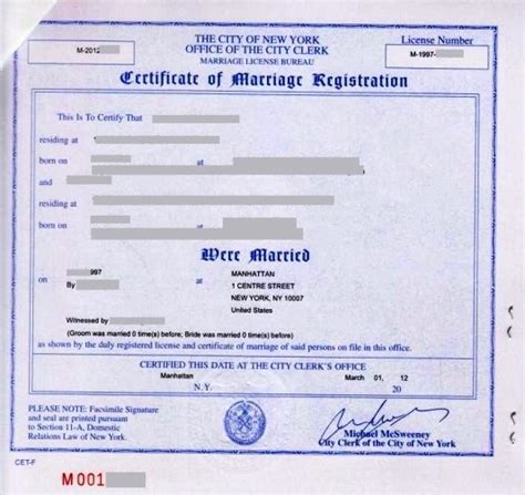design certificate nyc marriage certificate sle new york choice image